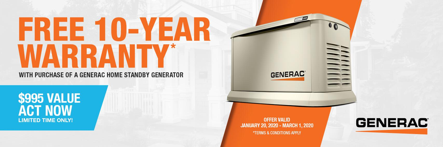 Homestandby Generator Deal | Warranty Offer | Generac Dealer | Buckhannon, WV